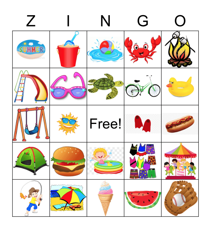 SUMMER! Bingo Card