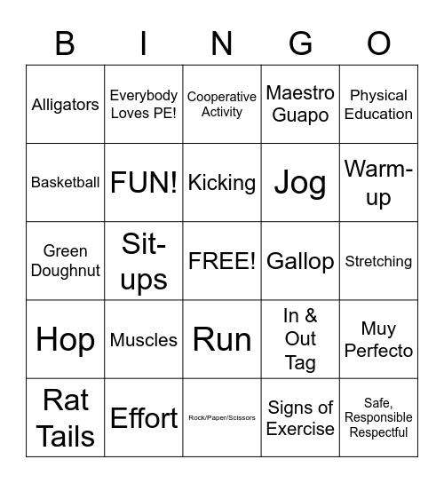 PE Bingo! Bingo Card