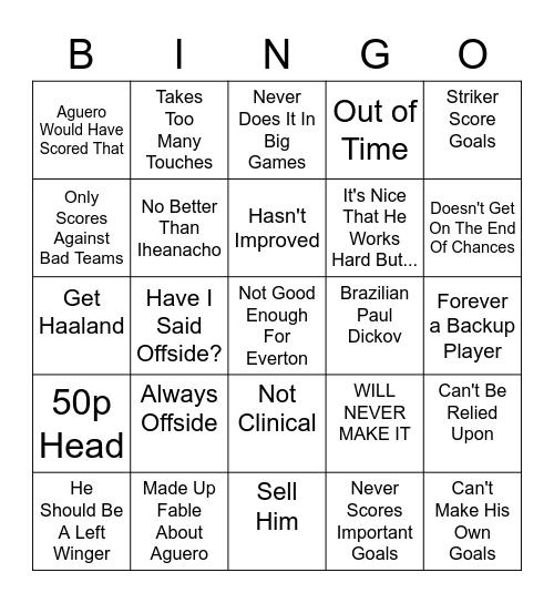 Bluemoon Jesus Bingo Card