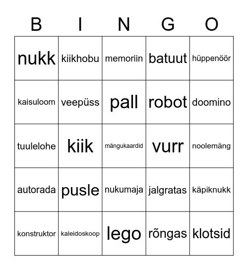 Mängud ja mänguasjad Bingo Card