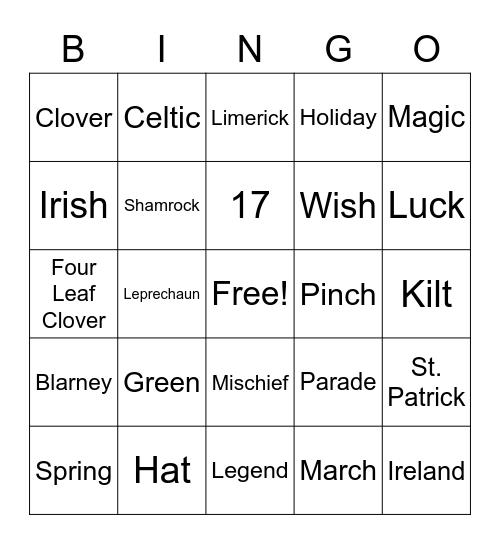 Lucky Bingo Card