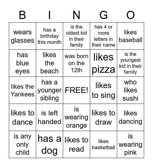 FIND SOMEONE WHO... Bingo Card