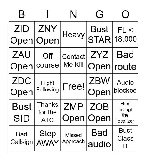 padre_andrew ATC Bingo Card