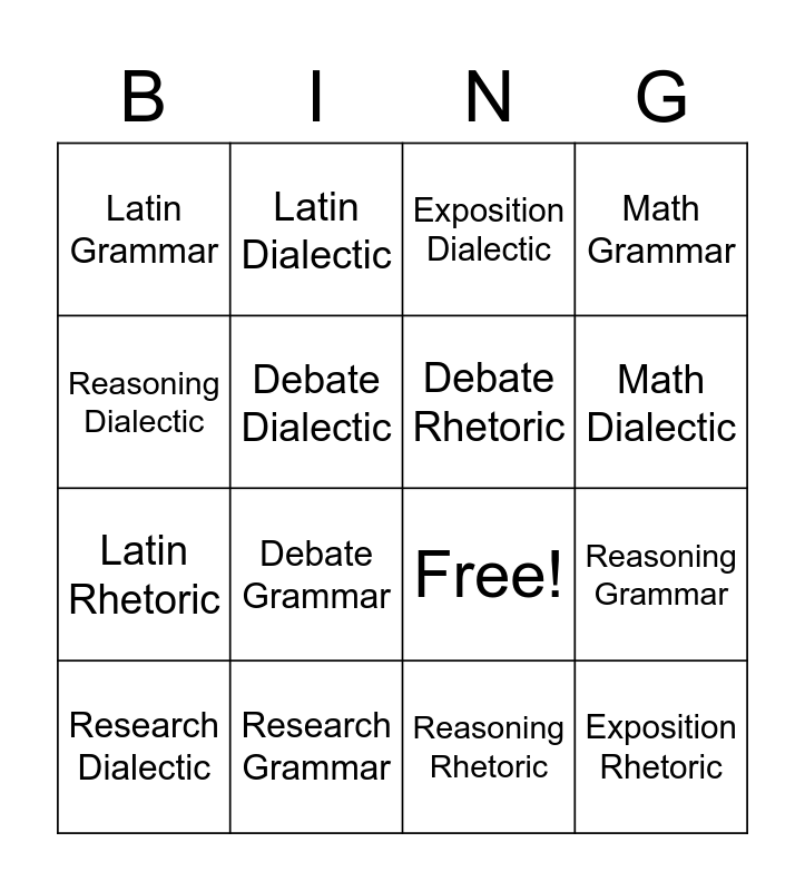 Orientation BINGO Card