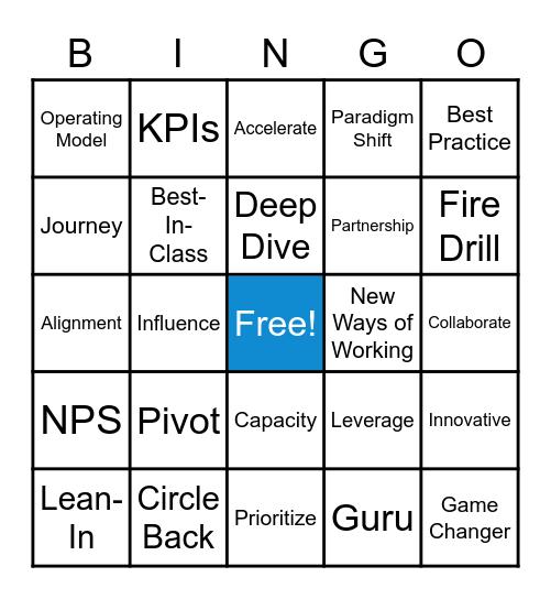 CET Leadership Virtual F2F Bingo Card