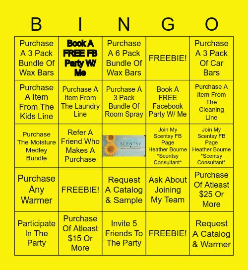 Scentsy Bingo! Bingo Card