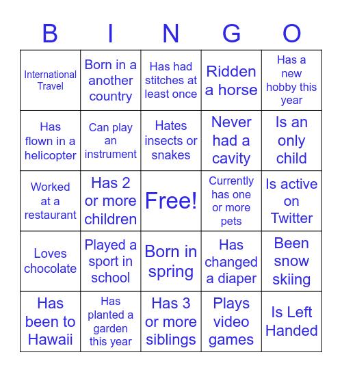 Extended Mastery Team Bingo Card