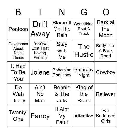 Music Bingo 5 Bingo Card