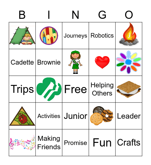 Girl Scout Bingo Card