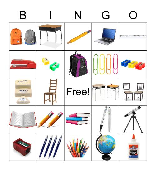 school supplies bingo Card