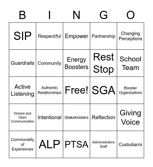 Student Bingo Card