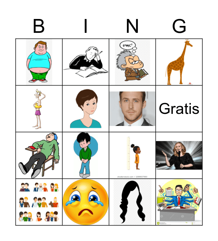 Personalidad y Apariencia Bingo Card