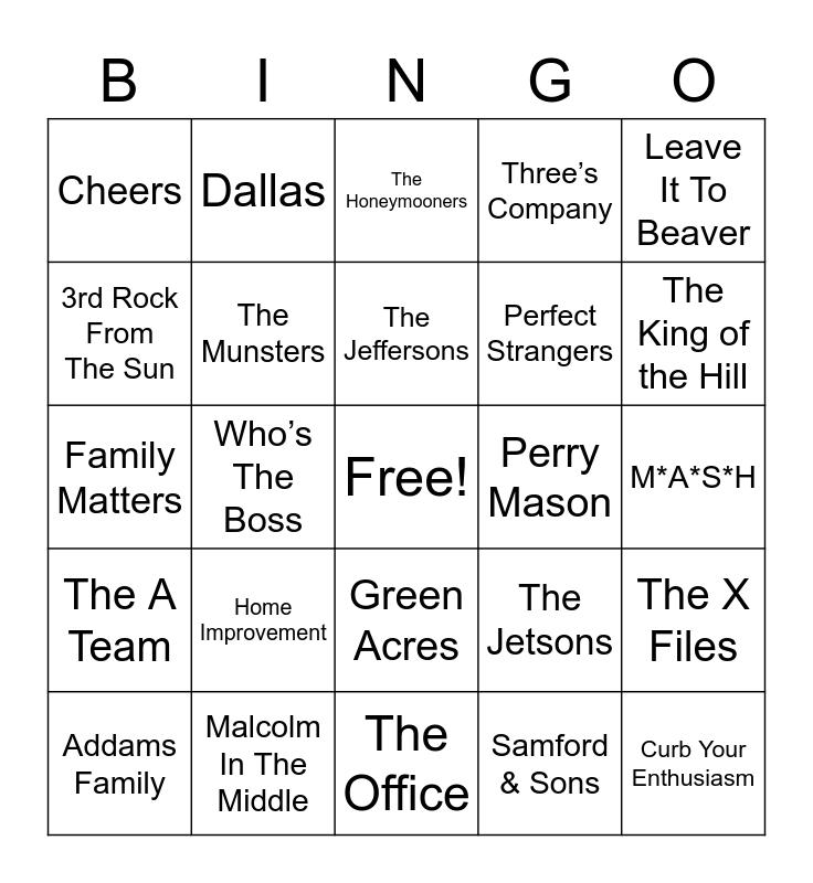 Total-Quiz.com Presents Radio Bingo: TV Themes Bingo Card