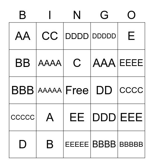 Genetics Bingo Card