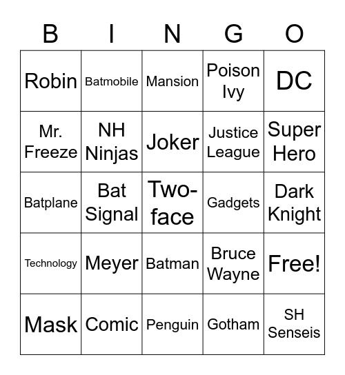 BATMAN Bingo Card