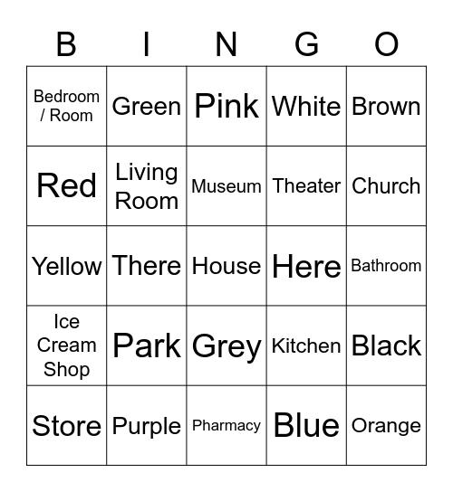 Adjectives Bingo Card