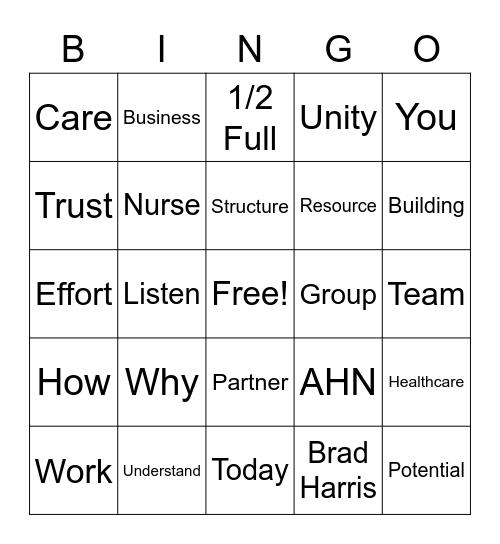 Retreat Bingo Card