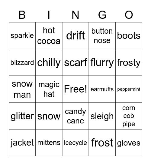 Holiday Bingo Card