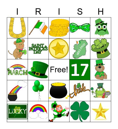 St. Patricks Day Bingo Card