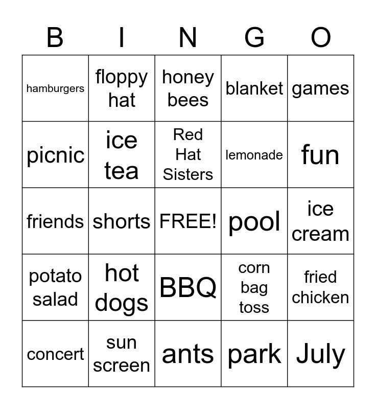 PICNIC Bingo Card