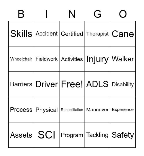 Work Safety Bingo Card