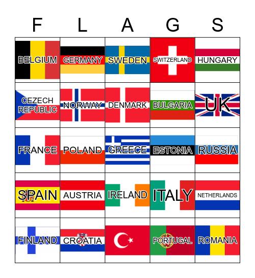 FLAGS Bingo Card