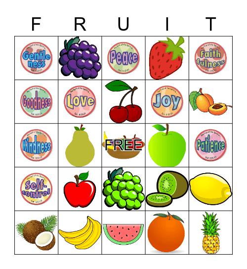 Fruit of the Spirit Bingo Card