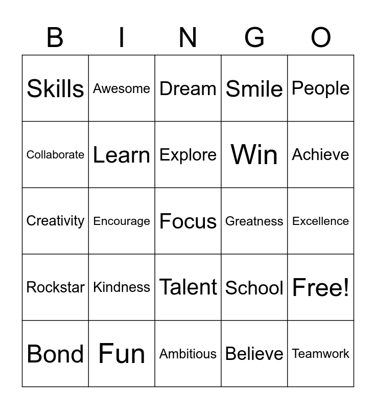 MOTIVATIONAL Bingo Card