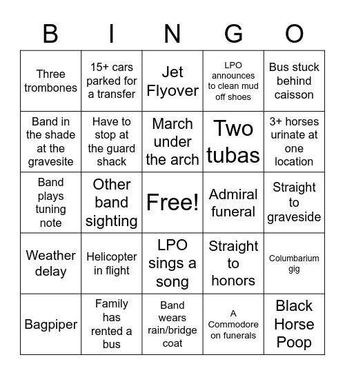 Arlington Bingo Card