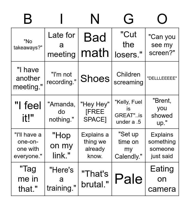 Zoom Bingo Card