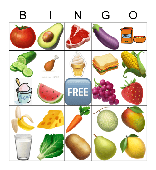 Nutrition, NUTRITION Bingo Card