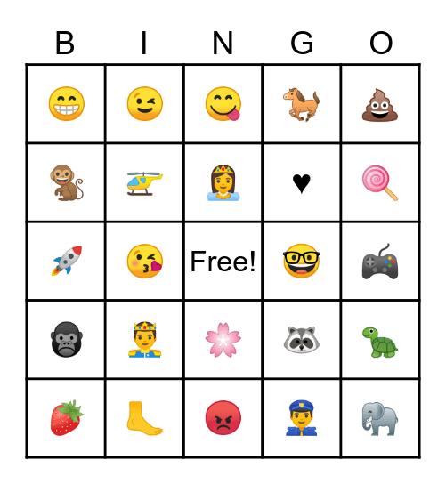 Emoji, Transitions Emoji Bingo Card