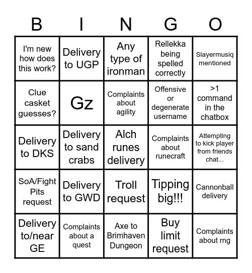 DI Chat Bingo Card