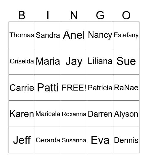 FHC Holiday Bingo Card
