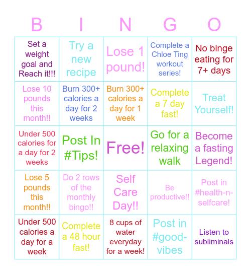 GGF Monthly Bingo!! Bingo Card