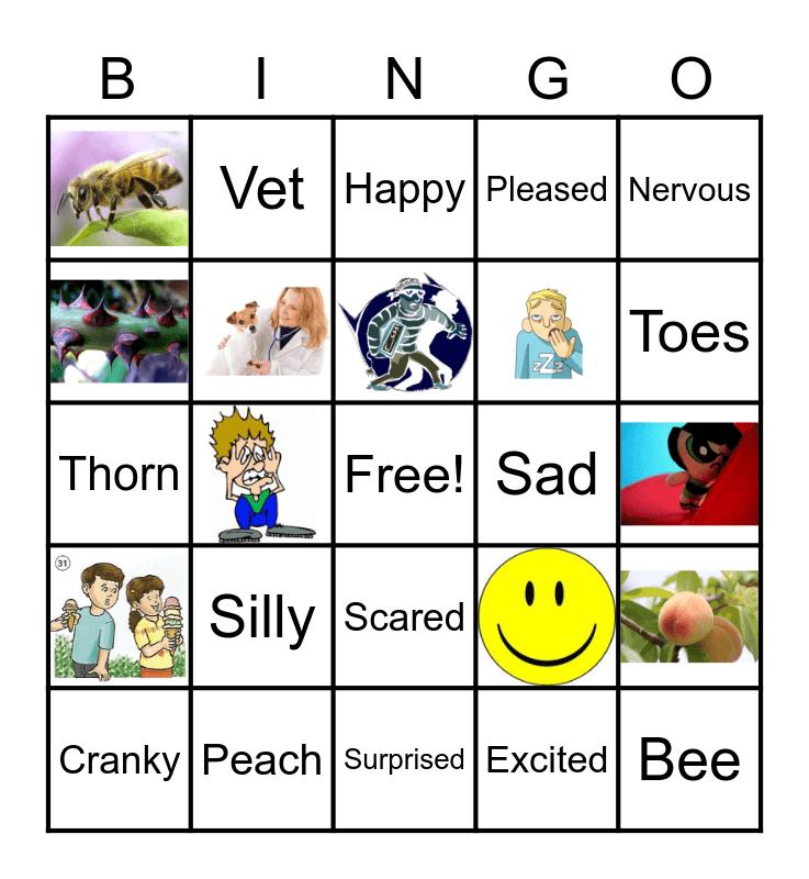 Emotions! Bingo Card