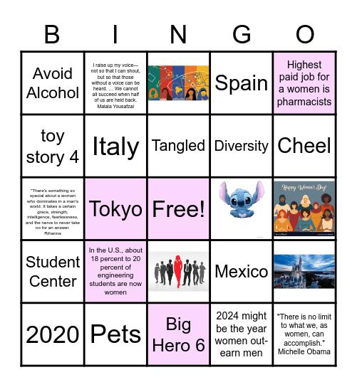 The WiSE floor Bingo Card