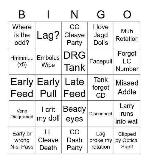 TEA Bingo Card