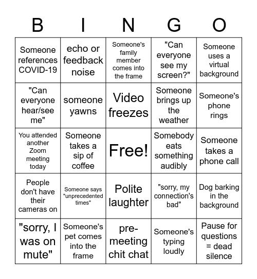 Extension Orientation Bingo Card