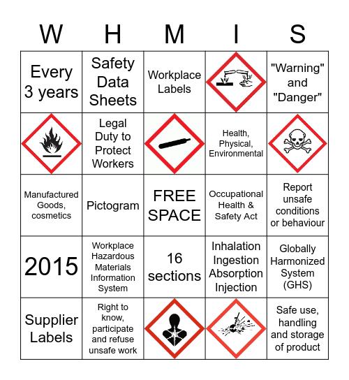 WHMIS Bingo Card