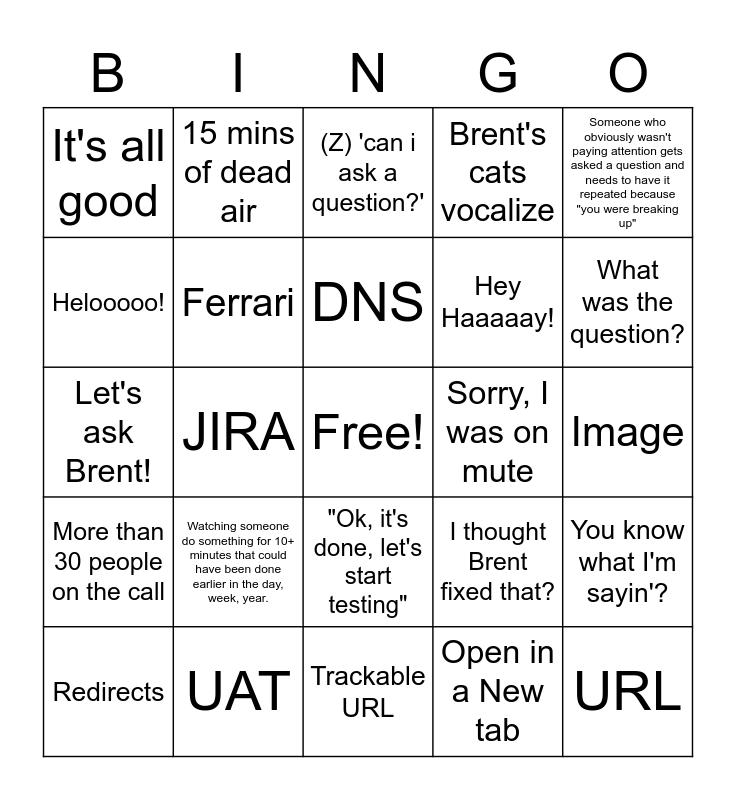 Corporate launch Bingo Card