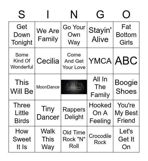 1970's SINGO Bingo Card