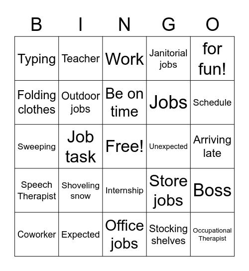 Job Skills Bingo! Bingo Card