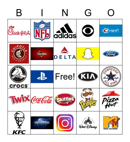 LOGO BINGO!, Explorer Logo Bingo Card