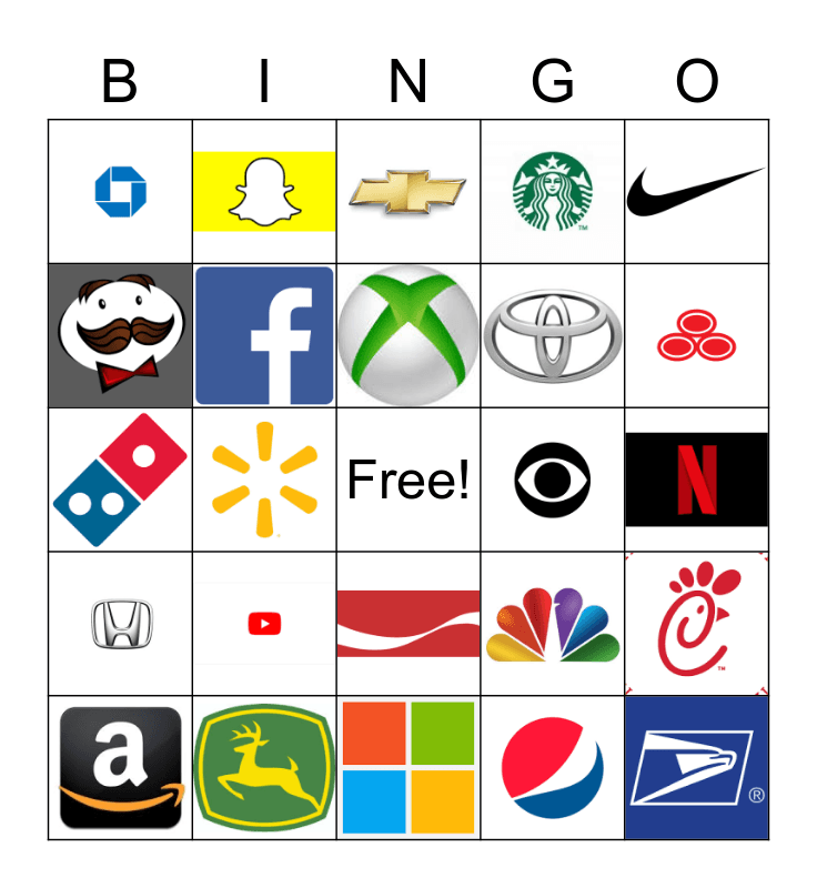 Logo Bingo! Bingo Card