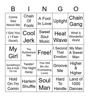 Body & Soul Bingo Card