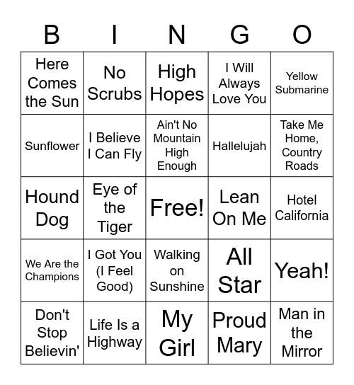 Music Bingo - Variety Bingo Card