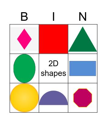 2D shapes Bingo Card
