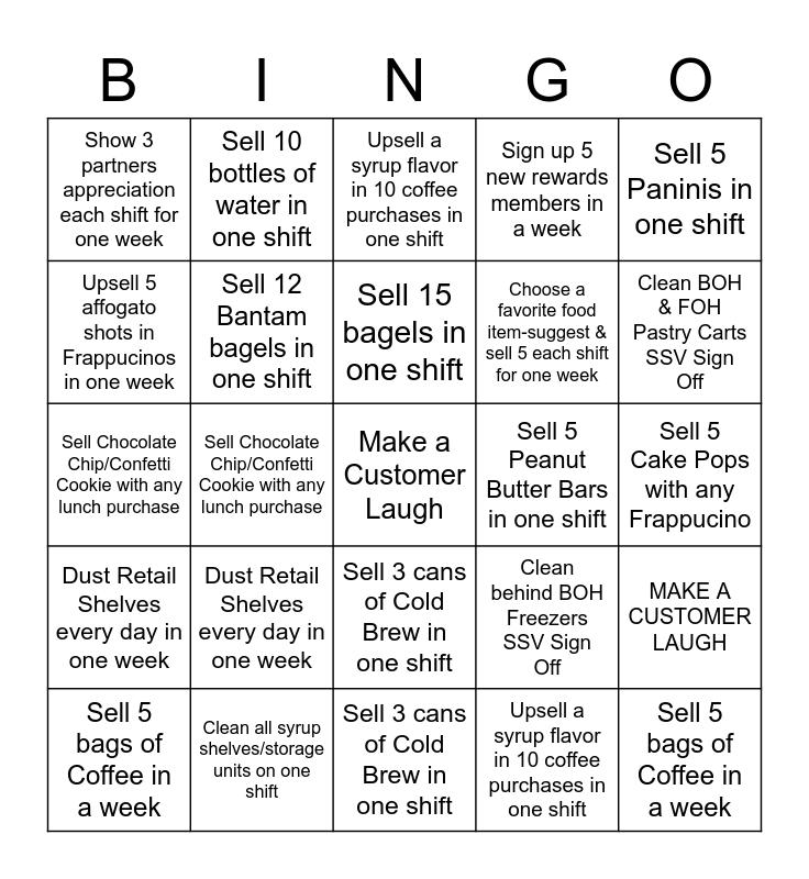 Starbucks Island Crossings Bingo Card