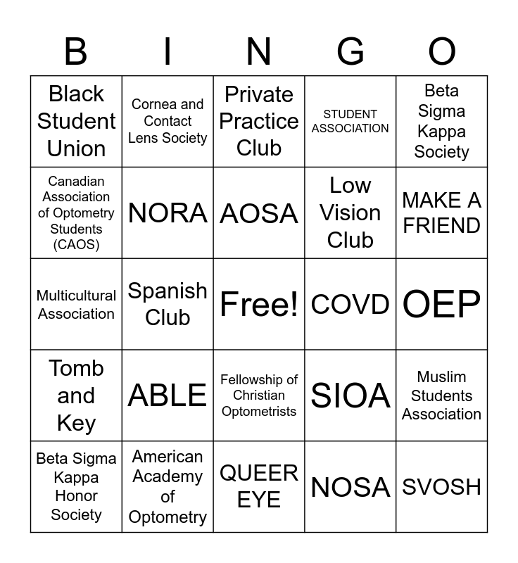 BLINDSPOT 2020 Bingo Card